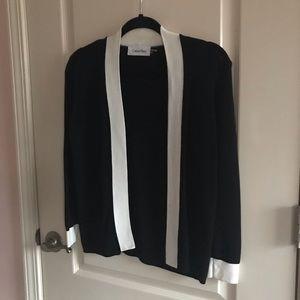Black And White Calvin Klein Bolero Sweater